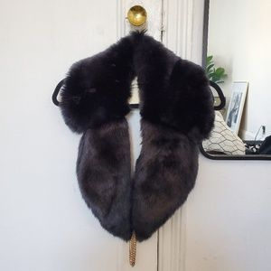 *NWT* ASOS Black faux fur shawl